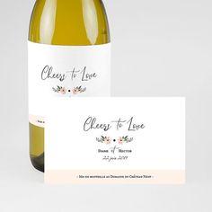 Habillez vos bouteilles de mariage d'une étiquette personnalisée #mariage #mariagechampêtre #décorationmariage