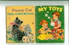 Two great Junior Elf books.  Pussy cat talks to her kittens is copyrighted 1942.