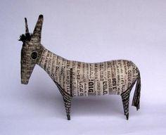 Newspaper donkey