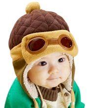 Varejo Barato Crianças Cool Boy Girl Bebê Crianças Infantil Inverno Piloto Bomber Hat Cap Quente(China (Mainland))
