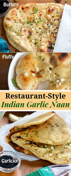 Indian Garlic Naan Bread For Easy Indian Dinner At Home. A Quintessential Indian Bread Served In Every Indian Eatery, Garlic Naan Is Heart-Throb Of Million Indian Cuisine Lovers No Need Of Special Oven - Sharing An Easy Stove Top Cooking Method Naan Recipe, Garlic Naan Bread Recipe, Nann Bread Recipe, Rolls Recipe, Vegetarian Recipes, Cooking Recipes, Indian Food Vegetarian, Bread Recipes, Pizza Recipes