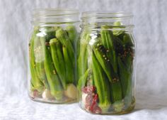 Spicy Pickled Okra Recipe | One tomato, two tomato