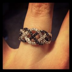 My beautiful black and white diamond promise ring