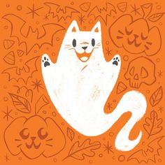 Super cute cat illustrations by Caley Hicks!