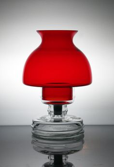 Nanny Still Apollo Lantern 1970 Red Glass, Glass Vase, Colors Of Fire, Glas Art, Red Interiors, Light Effect, Scandinavian Design, Nordic Design, Glass Design