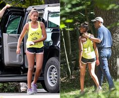 Sasha Obama proved she's every bit her daddy's little girl as the teenager went on a hike with President Obama at Great Falls Park in McLean Virginia. Sasha and Barack Obama enjoyed some daddy daughter time, walking arm in arm through the woods on June Malia Obama, Barack Obama Family, Presidents Wives, Black Presidents, Greatest Presidents, Thank You President Obama, First Black President, Obama Daughter, First Daughter