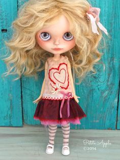 Etsy の Blythe doll outfit OOAK Big love 1920 by PetiteAppleShop