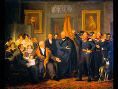 Jan Willem Pieneman The Triumvirate Assuming Power on behalf of the Prince of Orange, 21 November 1813 Oil on canvas 1828 x 70 cm x Prince Of Orange, Chapter 16, Old Master, Art School, 19th Century, Oil On Canvas, Old Things, Artwork, Painting
