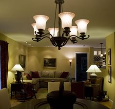This is a chandelier for my living room. It is for general lighting.The lamps are for task lighting. The floor lamp near the doorway is for general. Living Room Lighting Design, Living Room Light Fixtures, Dining Room Lighting, Light Colored Wood, Task Lighting, Room Lights, Doorway, Small Living, Interior Inspiration