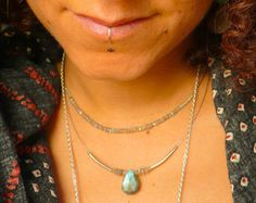Labradorite Drop Necklace by LunaLuxeMaui on Etsy