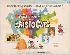 The Aristocats disney movie poster, Half Sheet