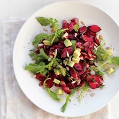 Beet, Avocado, and Arugula Salad with Sunflower Seeds - Whole Living Eat Well