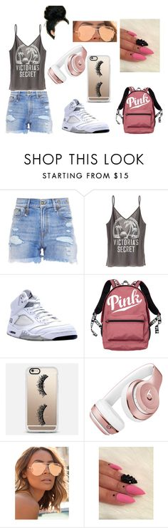 """""""A Monday at school"""" by baby-naja on Polyvore featuring R13, Victoria's Secret, NIKE, Casetify, Beats by Dr. Dre, Quay, vs and polyvoreeditorial"""