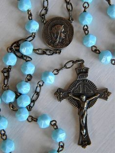 Beautiful vintage look rosary