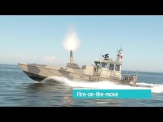 Patria - Nemo Navy 120mm Turreted Mortar System On Watercat M12 Landing Craft [720p] - YouTube