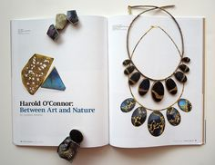 Some of Harold O'Connor's work at Patina Gallery featuring the Metalsmith article in which they appear.
