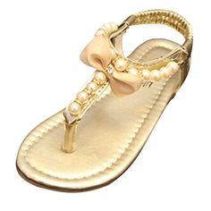 016781702fb84 GETUBACK Kids Toddlers Girl s Princess Sandals with Peals 6 M US Toddler  Gold GETUBACK http