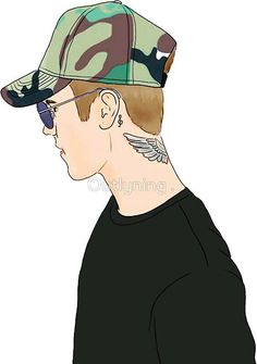 Justin Bieber Sketch, I Love Justin Bieber, Profile Drawing, Justin Bieber Pictures, Simple Cartoon, Becky G, Profile Photo, Cartoon Drawings, My Sunshine