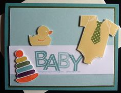 Keywords: Something for Baby 2014 In-Colors SUO Stamps: Something for baby, Metro Type Paper: Lost Lagoon, Mossy Meadow, Soft Sky, WW