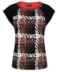 Anthea Crawford Australia Mocha Print Jersey Top