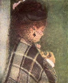 Lady with a Veil, 1877 ~ Pierre-Auguste Renoir ~ (French: 1841-1919)