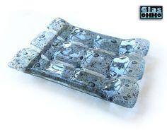 Bad-Accessoires -  Seifenschale aus Glas - GLACIER - ein Designerstück von ohho bei DaWanda