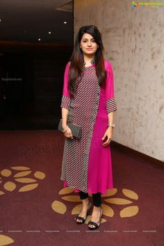 Lovely Indian Look Pink Color Cotton Kurti