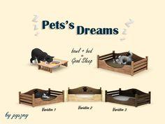 Pyszny Design - Pets's Dreams: bowl+bed #Sims3