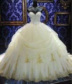 Gold or Silver Laced Embroidery End Sweet Heart by AmethystBridals, $1250.00