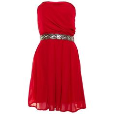 Jasmine Sequin Detail Red Dress ($15) ❤ liked on Polyvore