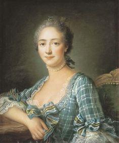 """""""Portrait of a Woman"""", 1757, by François-Hubert Drouais"""