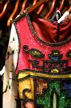 Todd Oldham sequin dress detail