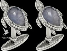 Be more gorgeous by this TORTUE MOTIF CUFFLINKS in rhodium-finish 18K white solid gold sculpted chalcedony and diamonds by @cartier #purplebyanki #love #instagood #beautiful #diamond #finejewellry #highjewellry #TurtleDesign