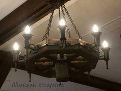#Состаренные_люстры и светильники #из_дерева в #Москве Ceiling Design, Lamp Design, House Wall Design, Wooden Chandelier, Castle House, Iron Work, Log Homes, Lamp Light, Light Fixtures