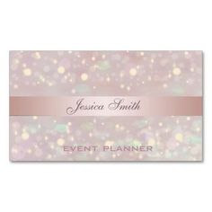 Professional elegant contemporary glitter bokeh business cards