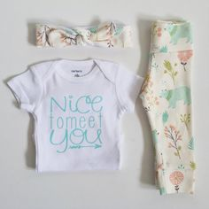 Pre-order Bringing home baby outfit by PaisleyPrintsSpokane