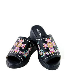 e191bb5c1d2a Montana West Embroidery Rhinestone Cross Spiritual Sandals Shoes Jp Black  Pink Blue 11