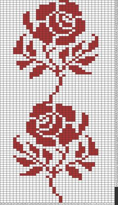 Tricksy Knitter Charts: rose chart by Ashley Nichole Davis