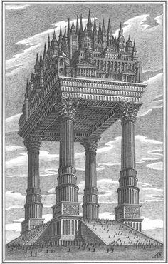 Architecture Images, Futuristic Architecture, Historical Architecture, Concept Architecture, Ancient Architecture, Amazing Architecture, Classical Architecture, Fantasy City, Retro Futuristic