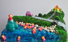 i really want to do this Ponyo cake for Sophia's birthday