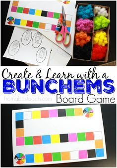Learn, play, and create with the Bunchems Mega Pack! Perfect for a fun family game night, this printable Bunchems board game is perfect for creative and imaginative play with your preschooler! #Bunchems #CG #AD