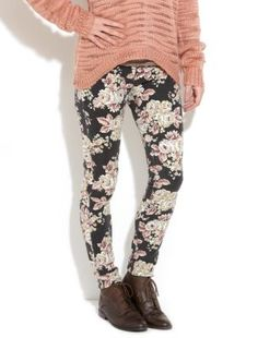 New Look Floral Jeans