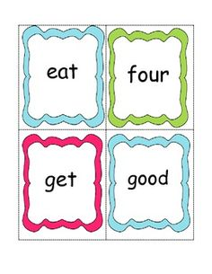 Primer Sight Words Cards!