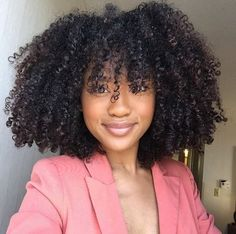 Afro Kinky Curly Hair Clip In Human Hair Extensions Human Natural Hair Clip Ins Brazilian Remy Hair Natural Hair Haircuts, Natural Hair Cuts, Natural Hair Styles, Natural Curls, Cabelo Natural 4a, Pelo Afro, Curly Hair Styles, Kinky Curly Hair, Curly Bangs