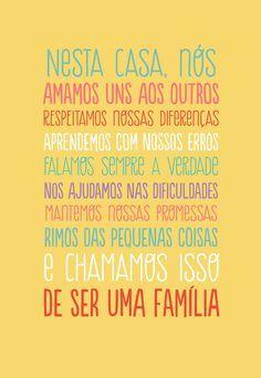 Poster Frase Nesta casa nos amamos uns aos outros