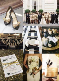 festive finds by Event Finds: Black & Gold Wedding Inspiration