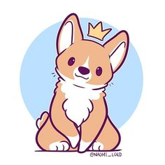 Have a lil corgi from a project I'm working on! I've been pretty busy today shipping out orders and stuff! But I'm trying to find time to draw some fun stuff! Corgi Drawing, Cute Dog Drawing, Drawing Art, Drawing Sketches, Drawing Ideas, Arte Do Kawaii, Kawaii Art, Kawaii Chibi, Cute Kawaii Drawings