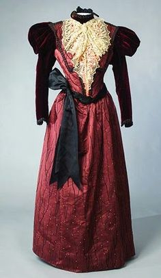 Historic Costume Collections | & Co. day dress ca. 1898 From the Drexel Historic Costume Collection ...