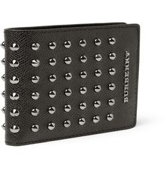 Burberry Shoes & AccessoriesStudded Cross-Grain Leather Wallet