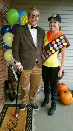 Carl and Russel from Up! Couple costume. Halloween!